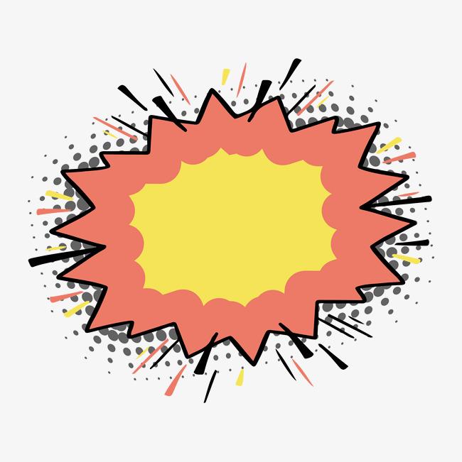 手绘漫画风波普风格装饰图案