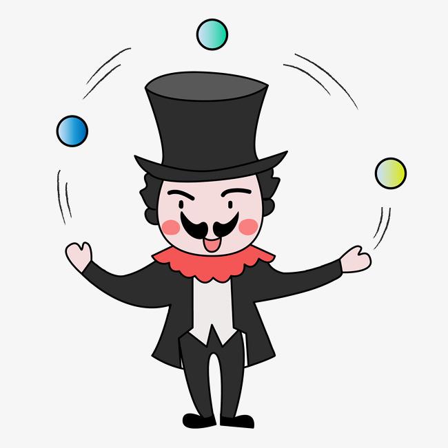 设计元素 人物形象 动漫人物 > 万圣节卡通手绘q版玩杂技的小丑