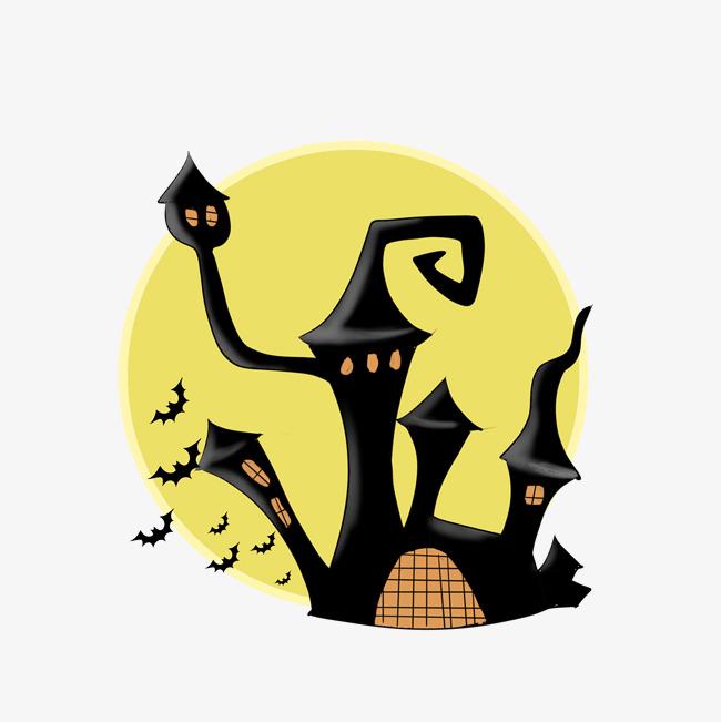 万圣节鬼屋蝙蝠插画图片素材 其他格式 下载 动漫人物大全
