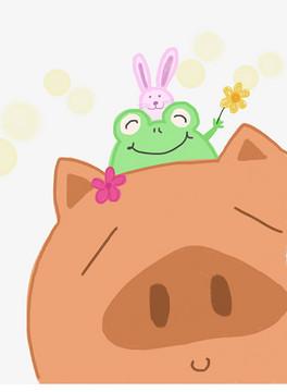 TIF分层可爱小兔子画