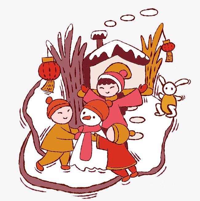 原创设计手绘卡通矢量新年过年小孩子