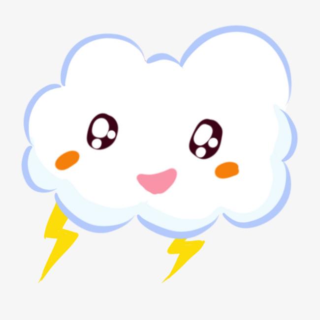 卡通简笔画白云手绘可爱卡通云朵图片素材 其他格式 下载 动漫人物大全