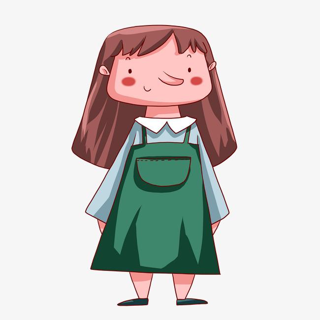 可爱卡通女生手绘漫画人物