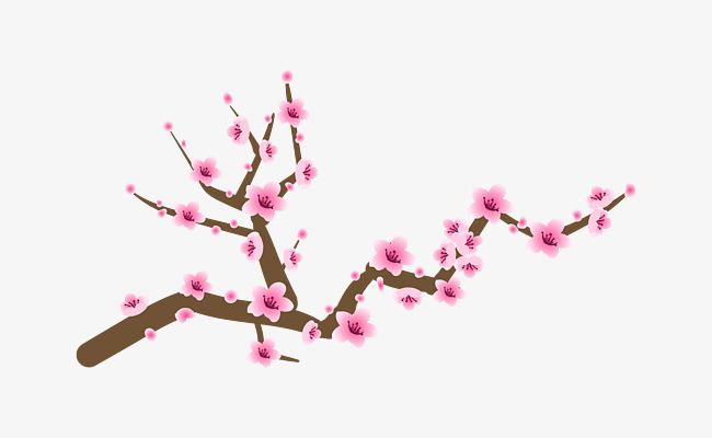手绘桃枝                                    粉色