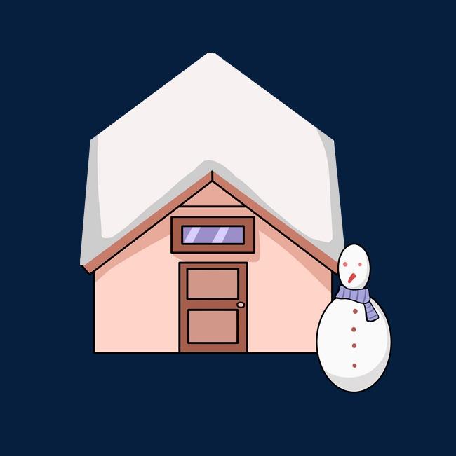 冬季雪天的房子插画图片素材 其他格式 下载 动漫人物大全