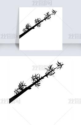 ps手绘植物装饰图案竹子图片