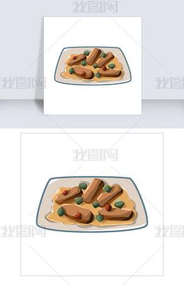 手绘麻婆豆腐插画