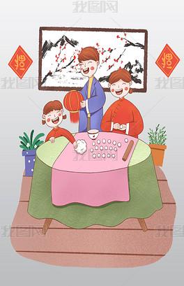 PSD元宵节国画 PSD格式元宵节国画素材图片 PSD元宵节国画设计模板 我图网
