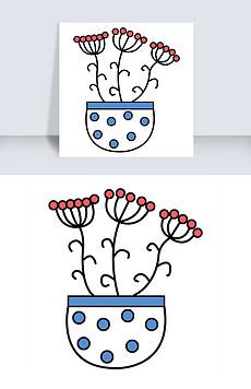 简笔画小花图片素材 简笔画小花图片素材下载 简笔画小花背景素材 简笔画小花模板下载 我图网