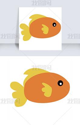 PSD一条小金鱼 PSD格式一条小金鱼素材图片 PSD一条小金鱼设计模板 我图网