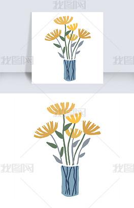 PSD花瓶简笔画 PSD格式花瓶简笔画素材图片 PSD花瓶简笔画设计模板 我图网