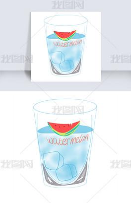 psd冰块玻璃杯 psd格式冰块玻璃杯素材图片 psd冰块玻璃杯设计模板 我图网