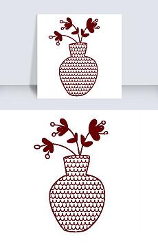 花瓶简笔画相关素材作品