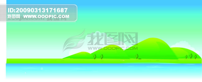 自然风景矢量图