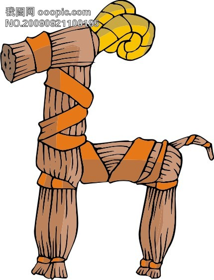 古代玩具矢量图7