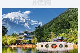 玉龙雪山的壮丽景色,丽江,中国