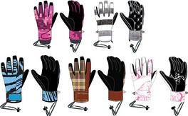 时尚滑雪手套