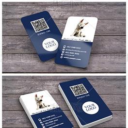 通用宠物行业名片设计|二维码名片PSD
