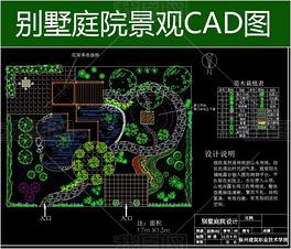 庭院设计cad平面图