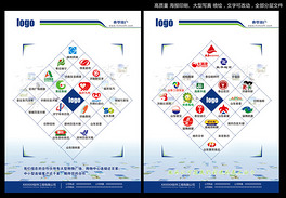 超市系统超市标志宣传单