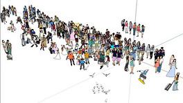 草图大师2d人物190人集合