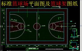 标准篮球场平面图