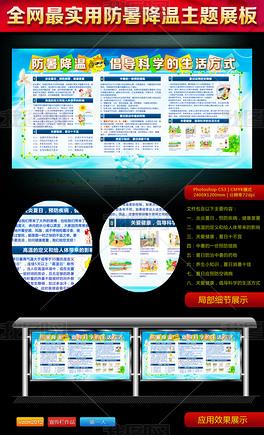 防暑降温宣传展板社区夏季防暑宣传栏