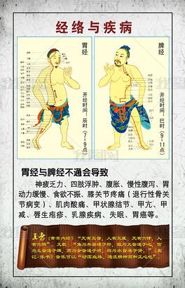 经络与疾病中医文化海报设计