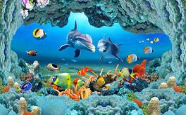 3D海洋世界电视背景墙