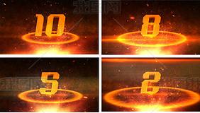 震撼金色粒子演绎鸡年开场片AE模板
