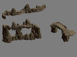 3d岩石石头模型-9