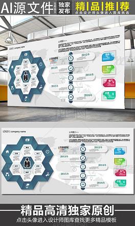 企业文化墙展板模板设计