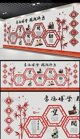 古典中式边框传统中医文化展板布置墙