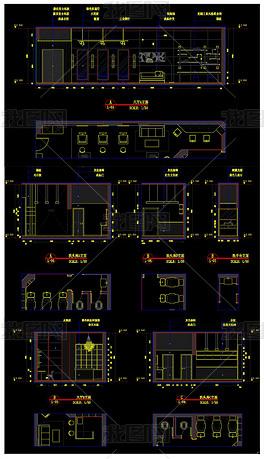 全套理发店CAD施工图