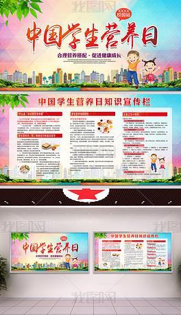 中国学生营养日宣传展板