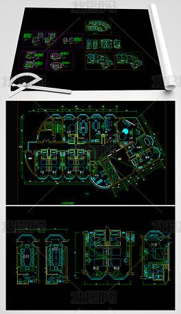 CAD综合楼电气设计图