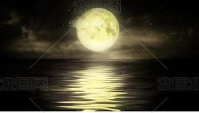 月是故乡明海上圆月安静唯美高清视频素材
