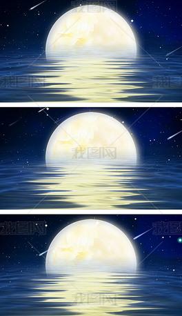 月是故乡明水调歌头中秋节圆月中国风视频