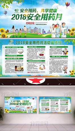 2018安全用药月安全用药共享健康展板宣传栏