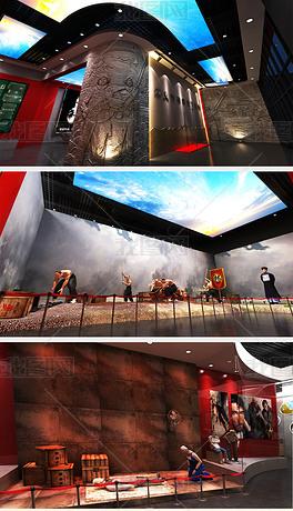 青少年禁毒教育展厅展馆设计3D模型效果图