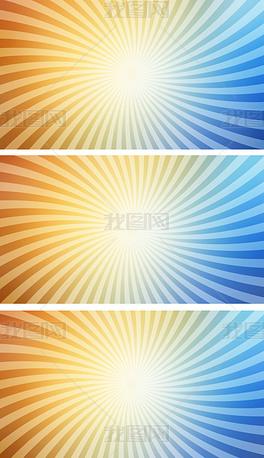 炫彩线条旋涡转动多彩活动背景视频