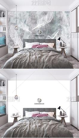 高清现代卧室客厅餐厅墙纸壁纸场景样机383