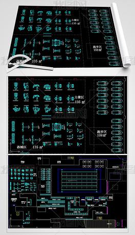 健身器材CAD体育生活馆室内设计平面图