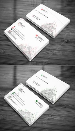 点阵科技几何企业个人名片设计模板二维码