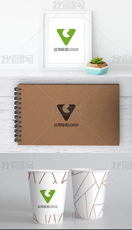 时尚创意字母VC企业标志logo模板