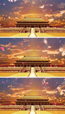 古典中国风故宫文化故宫印象大屏幕背景视频