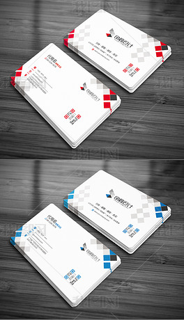 几何科技个人企业公司商务名片模板二维码