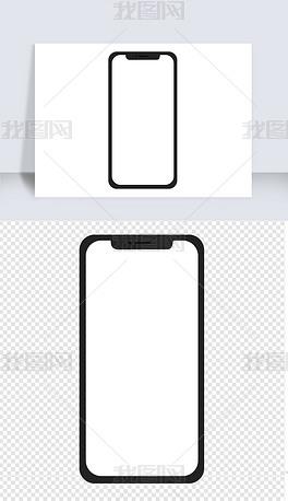 苹果手机手绘苹果手机边框图标免扣图片素材