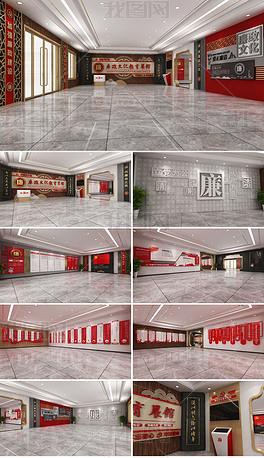 中式廉政文化展馆全套廉政文化教育展厅设计方案从严治党十九大精神党员廉政学习活动室