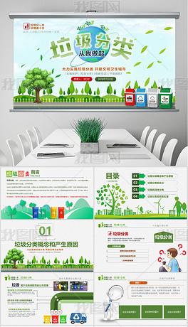垃圾分类处理环保生态政府企业资源节约培训